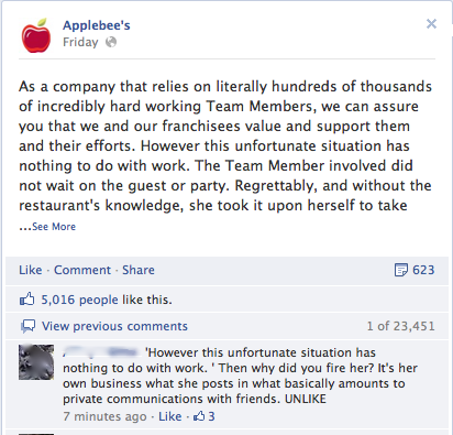 Applebee's Social Media Meltdown: Tips to avoid social PR disasters