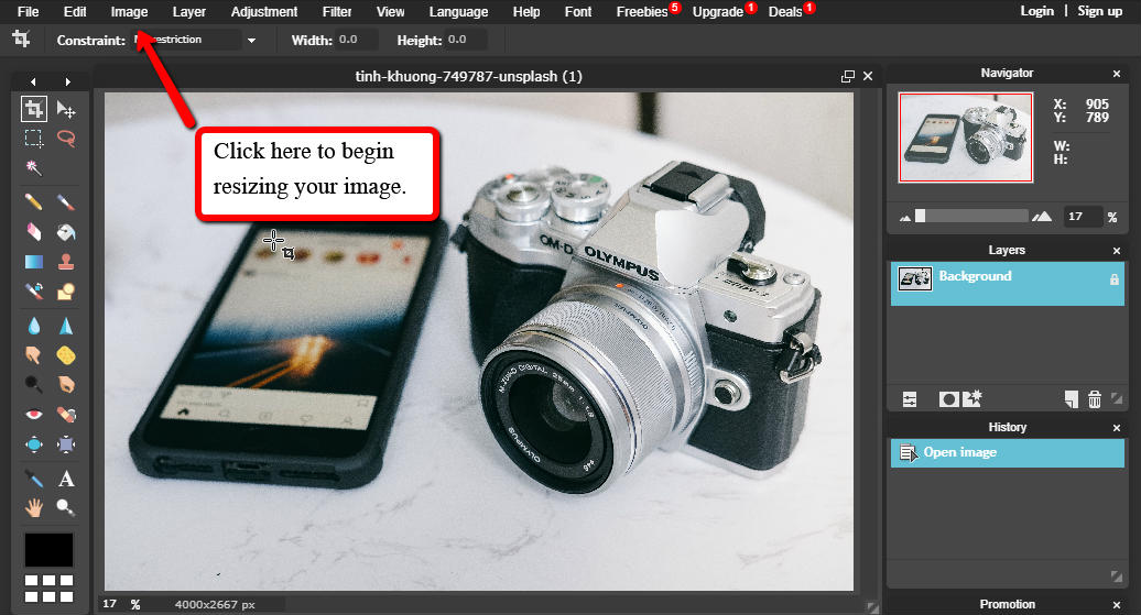 Resizing Images for WordPress