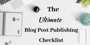 SocialNicole_Blog Post Publishing Checklist