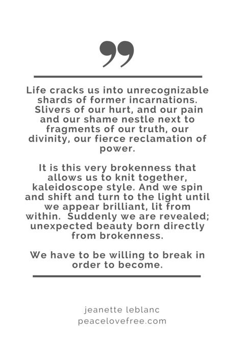 broken is beautiful quote blog